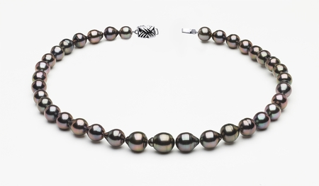8 x 10mm Tahitian Pearl Peacock Baroque Necklace