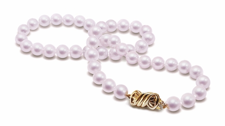 8 x  8.5mm A Quality 51 Inch Cultured Pearl Necklace