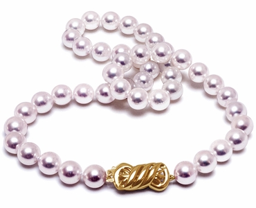 8 x 8.5mm Japnese Akoya Collection Quality Cultured Pearl Necklace