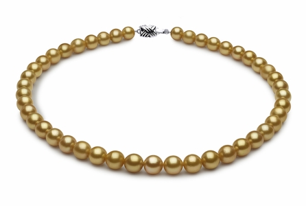 8 x 9.9mm Golden Pearl Necklace Serial Number | s8-dr01242g-b3