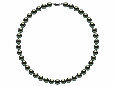 8 x 9mm Black Freshwater Pearl Necklace Choker