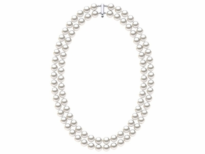 8 x 9mm White Freshwater Double Strand Pearl Choker