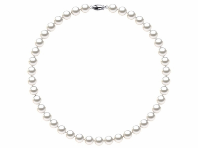 8 x 9mm White Freshwater Pearl Necklace Choker