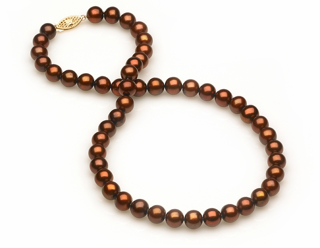 8mm Mocha Necklace