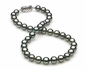 8mm to 9mm D Quality Black Tahitian Pearl Necklace
