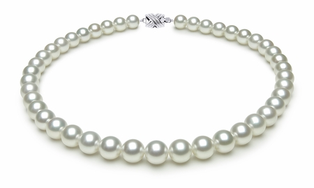 9.0 x 9.9mm White South Sea Cultured Pearl Necklace Serial Number | s9-ra02148w-b42