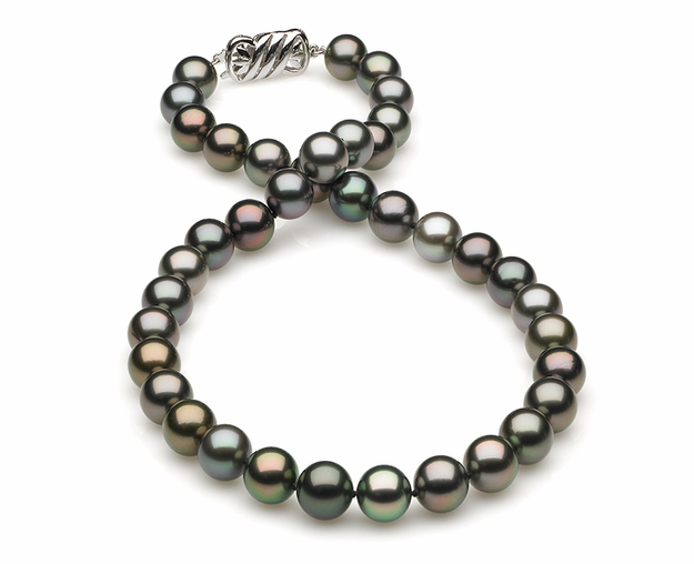 9.13x10.16mm Multicolor Tahitian Pearl Necklace
