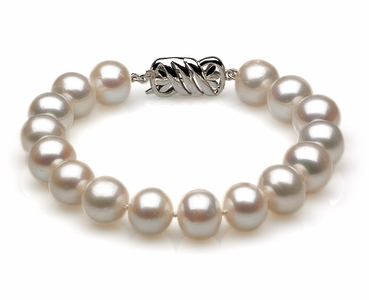 9 to 10mm White Australian South Sea Pearl Bracelet