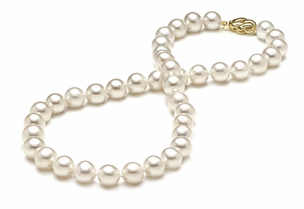 9 x 10mm Round Pearl Necklace