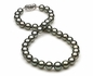 9 x 11mm Dark Grey Green Tahitian Pearl Necklace