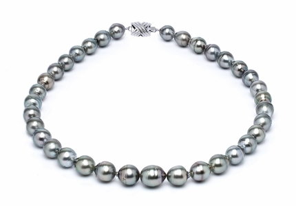 9 x 11mm Grey Baroque Tahitian Pearl Necklace