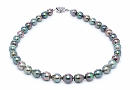 9 x 11mm Multicolor Baroque Tahitian Pearl Necklace