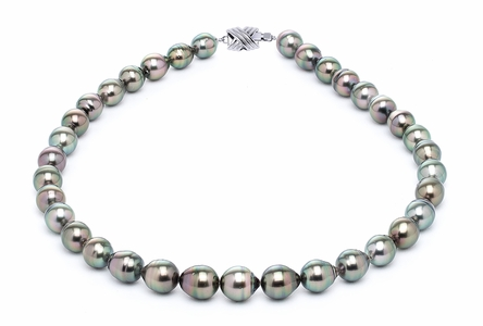 9 x 11mm Peacock Baroque Tahitian Pearl Necklace