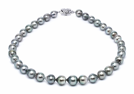 9 x 11mm Tahitian Pearl Necklace Serial Number | s10-grey-color-b4