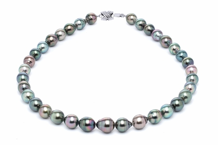 9 x 11mm Tahitian Pearl Necklace Serial Number | s10-multi-color-b20