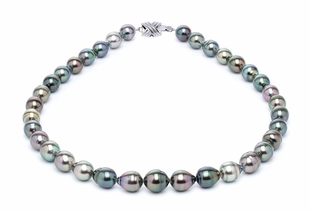 9 x 11mm Tahitian Pearl Necklace Serial Number | s10-multi-color-b23