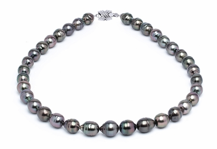 9 x 11mm Tahitian Pearl Necklace Serial Number | s11-dark-color-b35