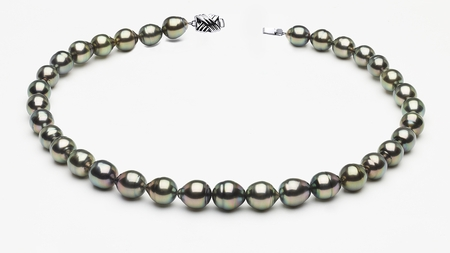 9 x 11mm Tahitian Pearl Peacock Baroque Necklace