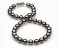 9 x 9.9mm Eggplant Tahitian Pearl Necklace