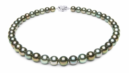 9 x 9.9mm Multicolor Tahitian Pearl Necklace