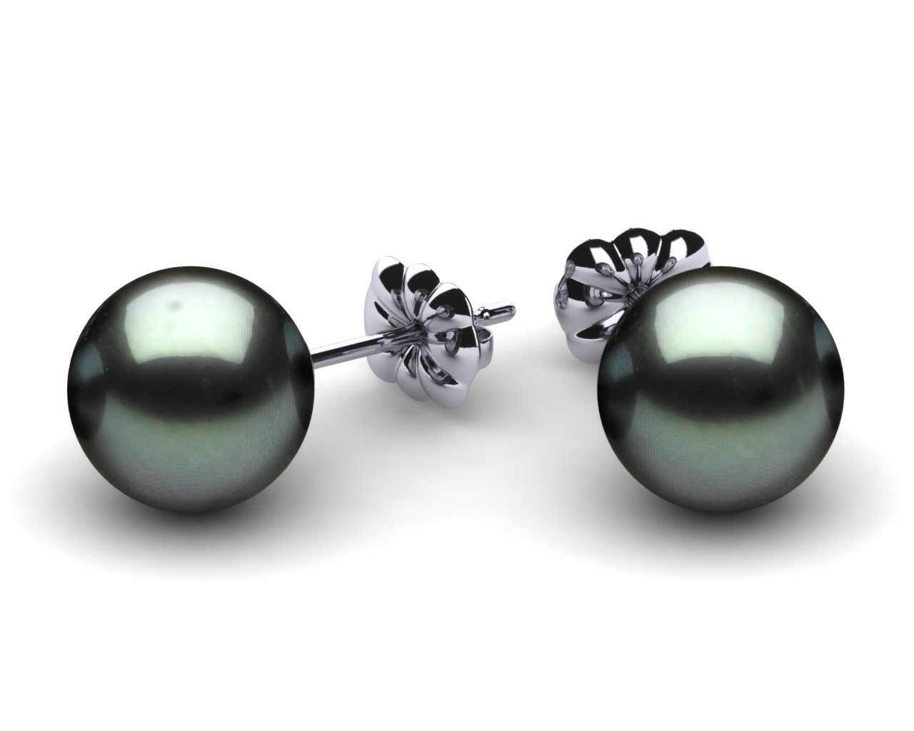 9mm Black South Sea Tahitian Pearl Earring American Pearl