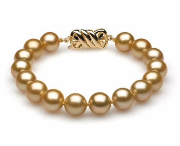 9mm to 10mm Golden South Sea Bracelet