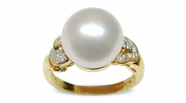 Adonia a White Australian South Sea Pearl Ring
