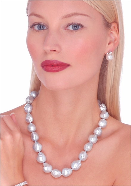 Baroque South Sea Cultured Pearl Necklace - 16 inches
