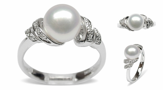 Bella Japanese Akoya Cultured Pearl Ring