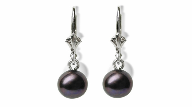 Black Pearl Dangle a Freshwater Cultured Pearl Earring