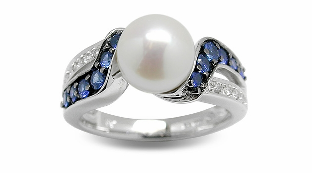 Bluefin a Japanese Akoya Cultured Pearl Ring