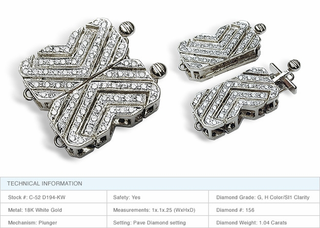 Butterfly 18K White Gold Clasp