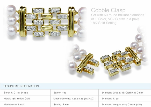 Cobble Clasp a 18K Gold and Diamond Clasp