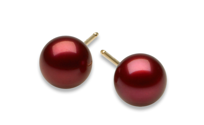 Cranberry Pearl Earrings