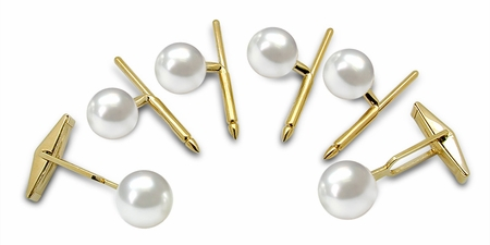 Cuff Links - Australian South Sea Cultured Pearl - 14K Gold