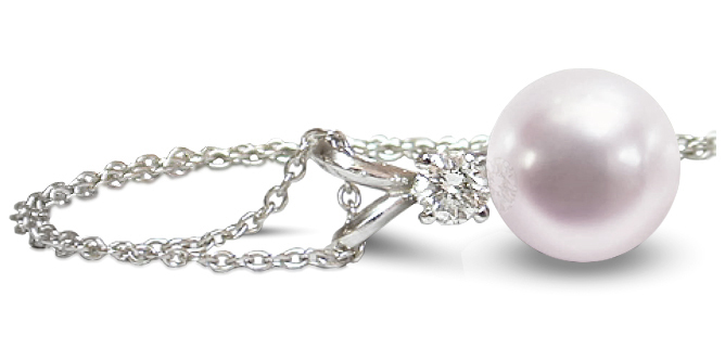 cygnet pearls diamond sea south bay enhancer product pendant pearl