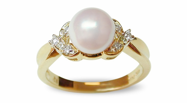 Delila a Japanese Akoya Cultured Pearl Ring