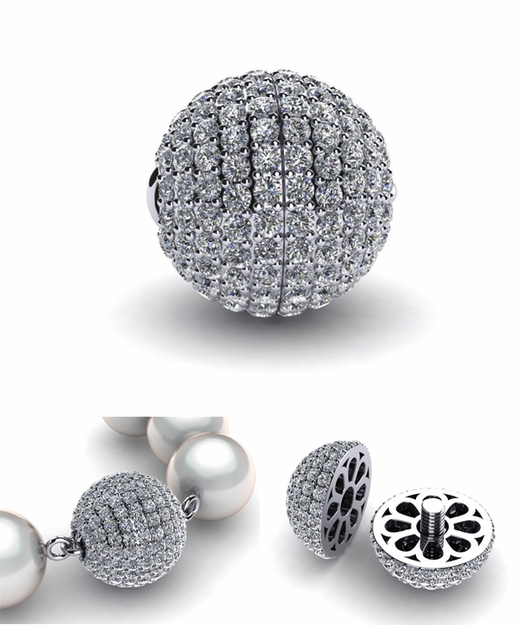Diamond Ball Clasp (Center Split)