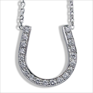 Diamond horseshoe pendant american pearl diamond horseshoe pendant aloadofball Image collections