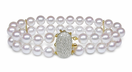 Double Strand Cultured Pearl Bracelet