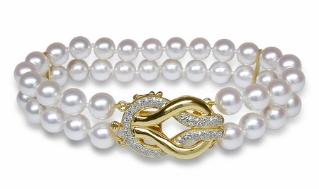 Double Strand Cultured Pearl Bracelet - $2000