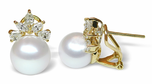Electra a White Australian South Sea Cultured Pearl Earring