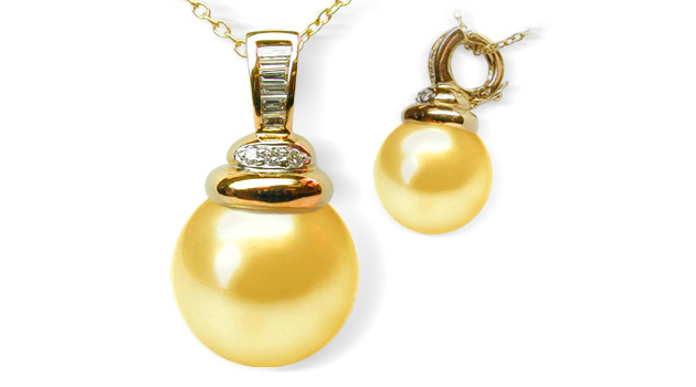Ester a golden south sea pearl pendant american pearl ester a golden south sea pearl pendant aloadofball Image collections