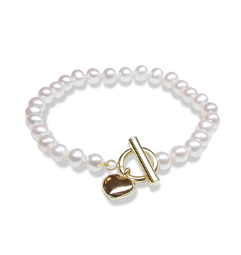 Fresh Heart - 5.5x6mm Freshwater Pearls $65