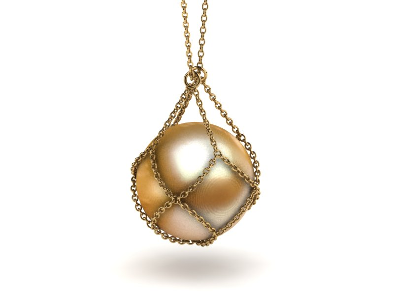 with gold cultured a pendant yellow freshwater in pearl