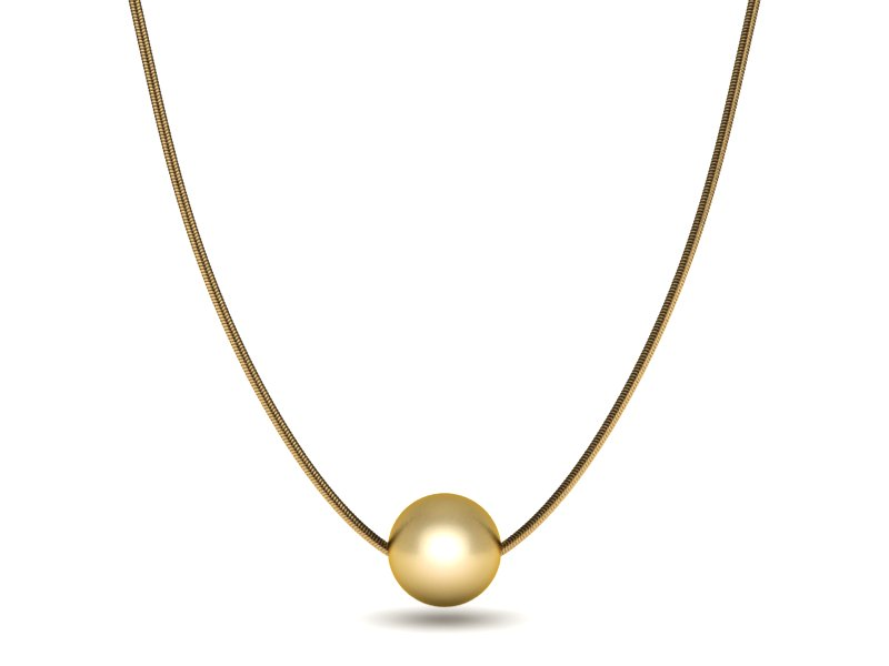 single necklace high jewelry gold pearl luster golden pendant south sea item