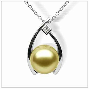 Golden wish a golden south sea cultured pearl pendant aloadofball Image collections