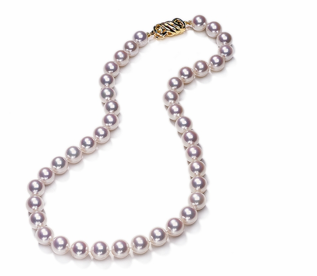 Hanadama 7.5mm x 8mm Japanese Akoya Cultured Pearl Necklace