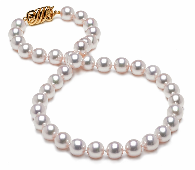 HANADAMA 9 x 9.5mm Japanese Akoya Cultured Pearl Necklace