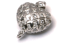 Heart Shaped Diamond Clasp